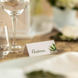 Platzkarte für Hochzeit, Geburtstag und andere Feiern